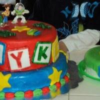 Toy Story Cake   My second fondant cake