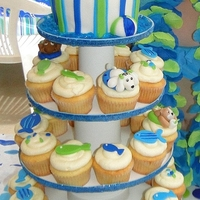 Pool Party Dogs  My daughter had a pool party with a fish theme but also HAD to incorporate dogs into the cake/cupcakes. This is what I came up with. I made...