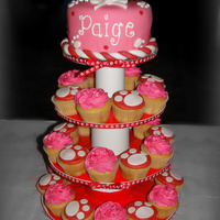 Puppies  This cake/cupcake party was for a girl who had a pet Jack Russell Terrier and a pet Yorkie puppy that she wanted on her cake. Her favorite...