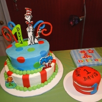 Cat In The Hat  Got an opportunity to share in a special 1st birthday. I was asked to create a Cat in the Hat cake to coordinate with the 1st birthday...