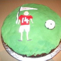 Footy Cake   my very first cake