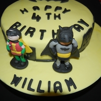 Bat Man And Robin Cake