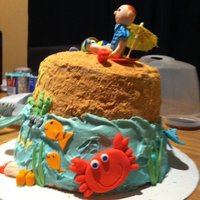 Under The Sea Themed This was my first time using fondant to mold figures. I really liked the way they turned out.