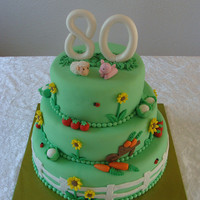 80 Years I made this cake for the 80th anniversary of my grandfather. Earlydays he was a farmer, so that's why I made some animals and...