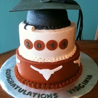 Ut Graduation iced with bc, mmf decor