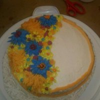 First Butter Cream Cake had fun making this cake it was my first butter cream cake