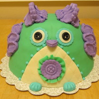 Owl Birthday Cake Own birthday cake that I made for my friends 29th bday! It was pistachio cardamom cake with a whipped pistachio filling.