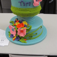 A Girls Bright Birthday Cake I made this cake for the 2013 STITR show. Its placed 2nd in its category.
