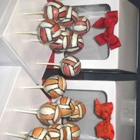 Volleyball Cake Pops Volleyball Cake Pops