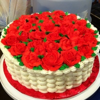 Rose Basket Cake