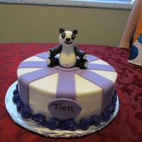 Panda Cake Very symple cake for a friend of my daughter's. She likes Pandas so I made her one from fondant.