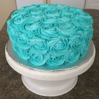 Birthday Cake For Paola   Swirl Rose cake - All Buttercream