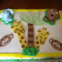 Safari Cake SAFARI CAKE, ALL ANIMALS MADE FROM FONDANT & GUMPASTE