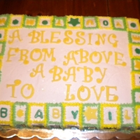 "A-B-C, Letter & Symbol Cake The mother wanted baby blocks..I decided to ""make my own"" out of different colored buttercream. I placed letters, symbols, &..."