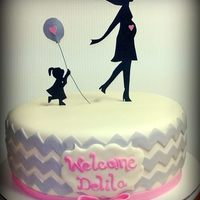 Chevron Baby Shower Cake *