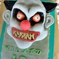 Cake For 40Th Birthday victoria sponge cake covered with fake marzipan type paste. Head made from Rice Krispies Treats.