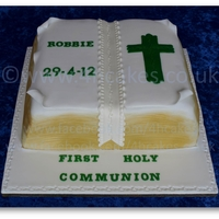 Bible Cake By Www.4Hcakes.co.uk   This is one of our Bible Cakes for a First Holy Communion. 100% Edible