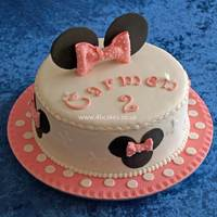 Minnie Mouse Birthday Cake   This cake was commissioned for a little girl's 2nd birthday. 100% edible.