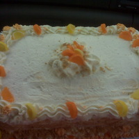 Creamcycle Cake Orange flav cake w a creamcycle mousse filling and homeade whipped cream and candied orange slices!