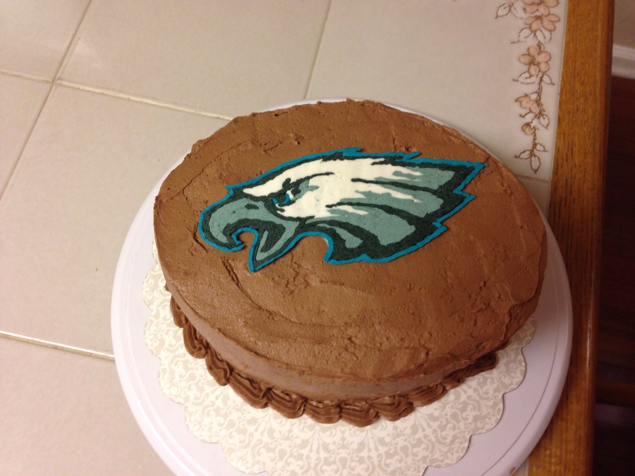 Eagles Cake This was a cake I made for a party for an Eagles game