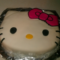 Hello Kitty Hello Kitty made of MMF and buttercream frosting.