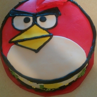 Angry Birds buttercream frosting with MMF.