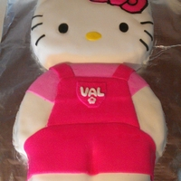 Hello Kitty Hello Kitty cake I made for a friend.