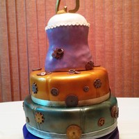 21St Birthday Cake My daughter wanted a steampunk cake and this is my 2nd cake after I finished my Wilton classes. The cake is layered with chocolate and then...