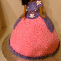 Barbie Cake I made This barbie cake for a friend daughter she was so happy ..