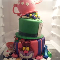 Mad Hatter Cake This cake was done for my little cousin's first birthday