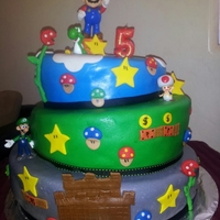 Topsy Turvy Mario Bros Cake First Topsy Turvy Mario bros Cake made with fat diddos topsy turvy cakes