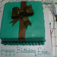 Birthday Last minute birthday gift cake. The bow cracked and I had to make another quickly. I wasn't really pleased but the client was so I...