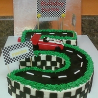 Race Track Cake This cake was made for a little boy birthday that love race cars and is turning 5 today.