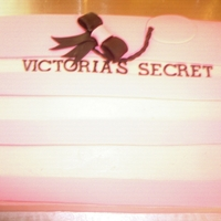 Victoria's Secret Bag Made for a clients daughter b-day.Iced in butter cream with fondant accents.