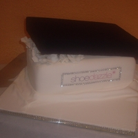 Shoe Box Cake With Bling Shoe box cake made for a friends b-day.The shoe didn't dry all the way and broke in half : ((( It was also my first time trying to...