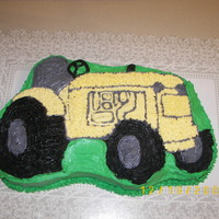 Tractor Cake I used wilton's tractor pan for this cake.