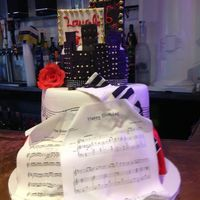 Sweet Sixteen Cake Made For A Young Lady Who Loves To Sing And Is In The Drama Club Everything Is Edible Even The Sheet Music Happy Birt  Sweet Sixteen cake made for a young lady who loves to sing and is in the drama club- everything is edible, even the sheet music- &ldquo...