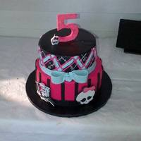 Monster High Ireland's 5th birthday cake-- Monster High I believe- The design was copied from Happy Cakes , who generously posted a tutorial - of...