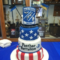 Jrotc Cake My daughter is a proud JROTC Cadet, and I made this cake for the awards night celebration. My first 4 tier cake. Everything is edible...