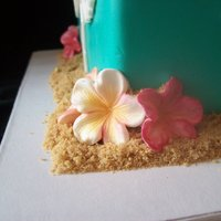 Teal Tropical Cake