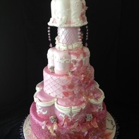 Pretty In Pink Butterfly Cake