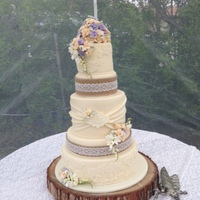 Vintage Rustic Wedding Cake