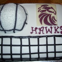 Volleyball Cake For Hawks Tournament