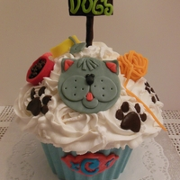 Giant Cupcake Kitty Cat Design D Giant Cupcake Kitty Cat Design :D
