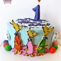 Oh, The Thinks You Can Think! SMASH CAKE-BUTTERCREAM COVERED CAKE WITH FONDANT DECOR
