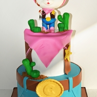 "Sheriff Callie's Wild West 6"" top 8"" bottom tiers all fondantrkt fondant topper"