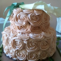 D And T Wedding 7up cakes with champagne buttercream rosette frosting