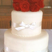 Tall Songe Wedding Cake