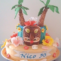 Hawaii Party Cake
