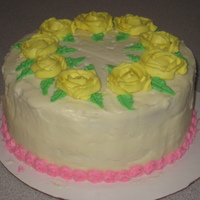 Mother's Day My first time making roses and the rosette border. Cream cheese icing.